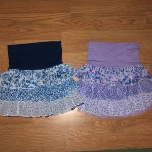 2 floral girls skirts for 10$